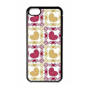 DIY Cover Case with Hard Shell Protection for Iphone 5C case with Love and Hearts lxa#414156