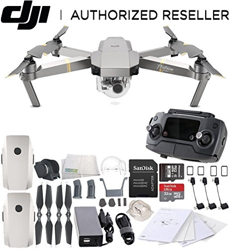 DJI Mavic Pro Platinum Collapsible Quadcopter Essentials Bundle