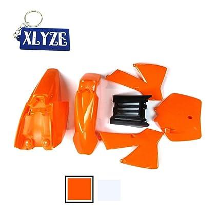 XLYZE Kit de Defensa de carenado de plástico Naranja para ...