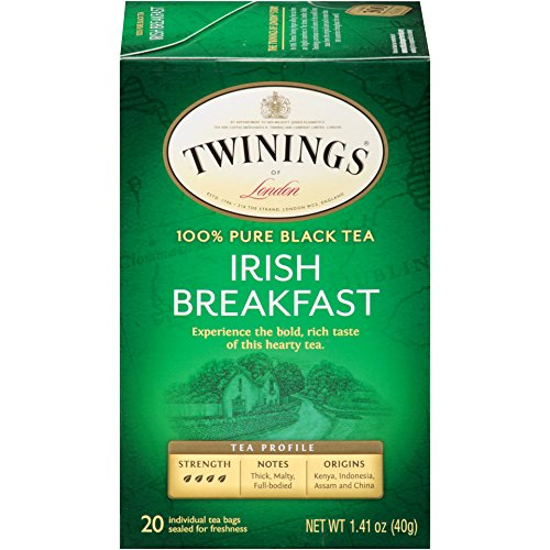 Tea Black Irish Tea (Twinings of London Irish Breakfast Tea Bags, 20 Count (Pack of 6))