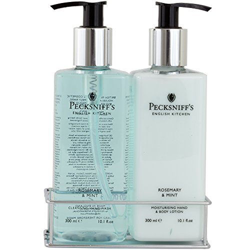 Pecksniffs Rosemary and Mint Two Piece Set Hand Wash and Body Lotion ()