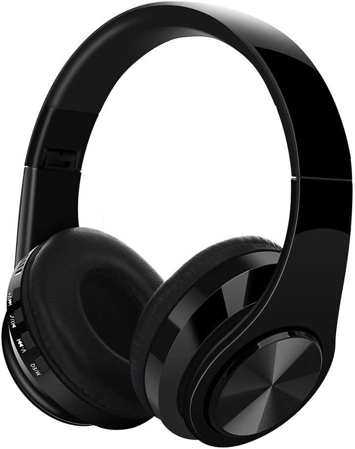 Cocoty-store Auriculares Diadema Bluetooth Inalambricos, Cascos Bluetooth Inalambricos Plegable con Micrófono, 20hrs Reproducción de Música, Hi-Fi Sonido Estéreo para TV, PC, Móviles AX4