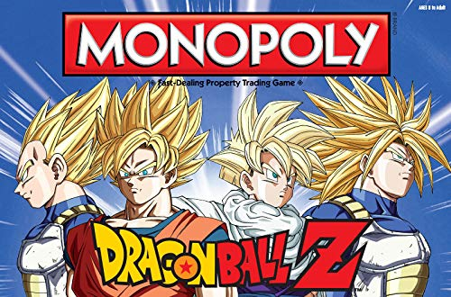 USAopoly Monpoly Dragon Ball Z Board Game | Recruit Legendary Warriors Like Goku, Vegeta and Gohan | Official Dragon Ball Z Anime Series -