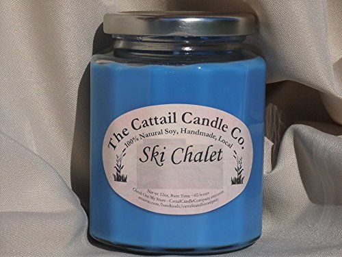 Candle Cattail (Ski Chalet - 100% Soy Candle, 12 fl oz)