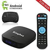 Newest android tv box 4K/BT4.0//Full HD/H.265/Smart TV Box, Kingbox K1 Plus Android 6.0 TV BOX 2GB/8GB with Mini Keyboard