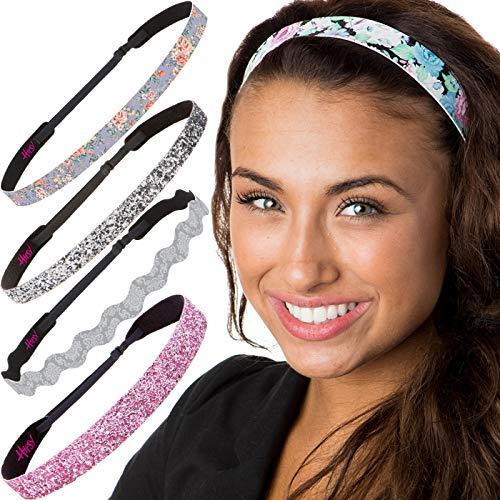 Hipsy Cute Fashion Adjustable No Slip Hairband Headbands for Women Girls & Teens (Pink Delicate Flower - Teenage Fashion