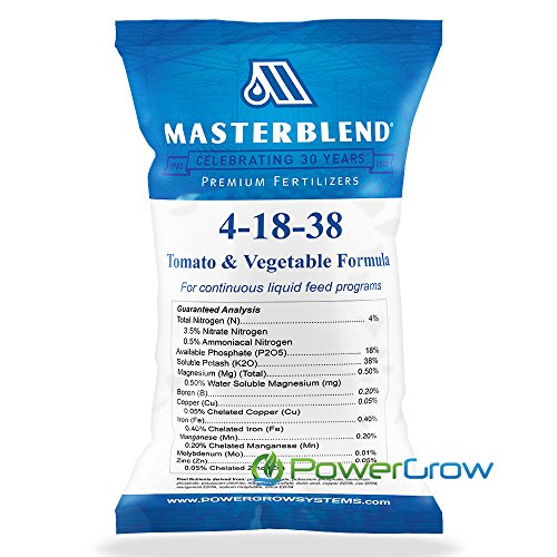 Master Nutrient System - MasterBlend 4-18-38 Tomato & Vegetable Fertilizer - BULK 1, 5 or 25 Pounds (5 Pounds)