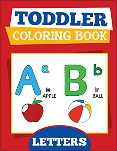 Toddler Coloring Book Letters Baby And Preschool Activity