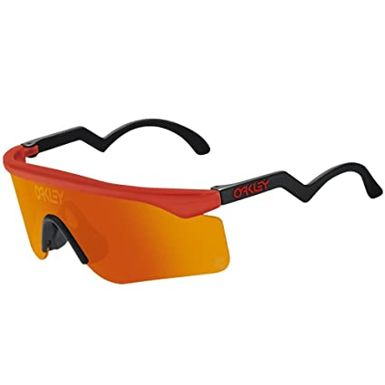 d54a425a47c Image Unavailable. Image not available for. Color  Oakley Mens Heritage  Razor Blades Sunglasses - Red Fire Iridium Lens