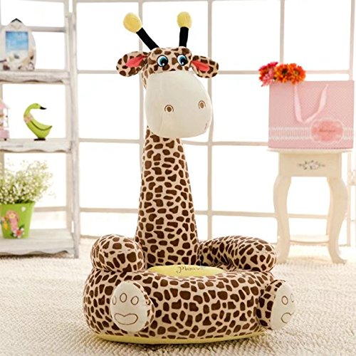 Kids Cartoon Animal Plush Sofa Seat, PP Cotton Plush Riding Toys Bean Bag Chair Seat, Mini Lounger Sofa,Soft Tatami Chairs,Birthday Gifts for Boys and Girls