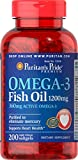 Cheap Puritan's Pride Omega-3 Fish Oil Softgels, 1200 mg, 200 Count