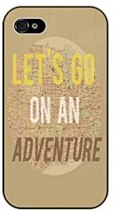 """iPhone 6 (4.7"""") Let's go on an adventure, vintage map Black case 11-A"""
