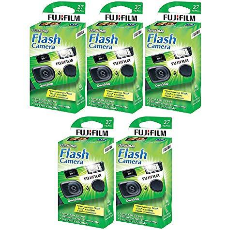 Fujifilm QuickSnap Flash 400 Disposable 35mm Camera (5 Boxes)