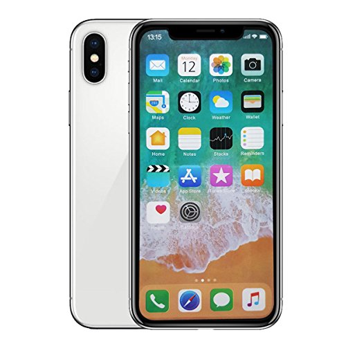 4Pillars Fake Dummy Display Compatible with Apple iPhone - Non-Working Phone XR XS MAX 1:1 Scale (XS Silver/Colored Menu Screen)