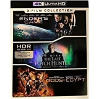 Lions Gate Enders Game/The Last Witch Hunter/Gods of Egypt 4K Ultra HD 3-Films