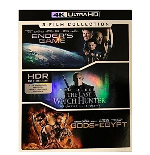 Lions Gate Ender's Game/The Last Witch Hunter/Gods of Egypt 4K Ultra HD (Collection Witch)