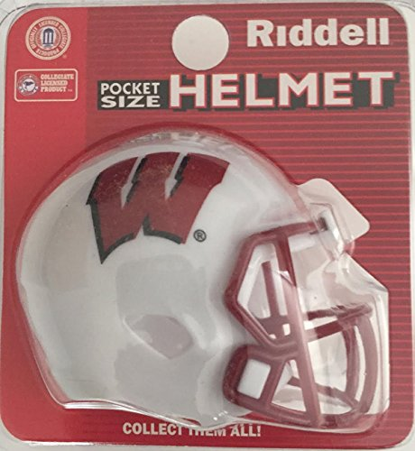 Riddell Wisconsin Badgers NCAA Speed Pocket PRO Micro/Pocket-Size/Mini Football -