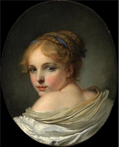 'Jean Baptiste Greuze,Head Of A Girl,18th Century' Oil Painting, 8x10 Inch / 20x25 Cm ,printed On Perfect Effect Canvas ,this Replica Art DecorativePrints On Canvas Is Perfectly Suitalbe For Wall Art Decoration And Home Decoration And Gifts