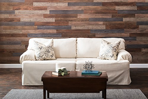 Nance Industries 16632 E-Z Peel and Press Wall Planks 4''X36'' Assorted Wood Colors 20 by Nance Industries (Image #3)