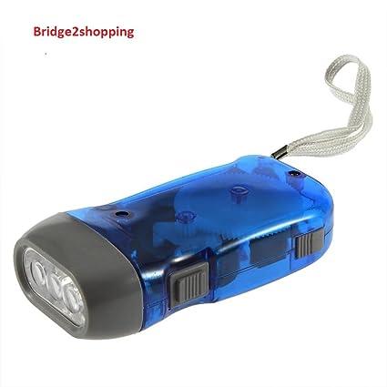 57aa289ec6d Bridge2Shopping™ Hand-Pressed LED Flashlight Dynamo Torch - For Home