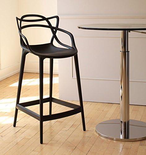 ispirato a Masters IBH Design Sgabello da bar Miami colore: nero