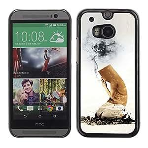 Be Good Phone Accessory // Dura Cáscara cubierta Protectora Caso Carcasa Funda de Protección para HTC One M8 // Funny Cigarette Butt Death