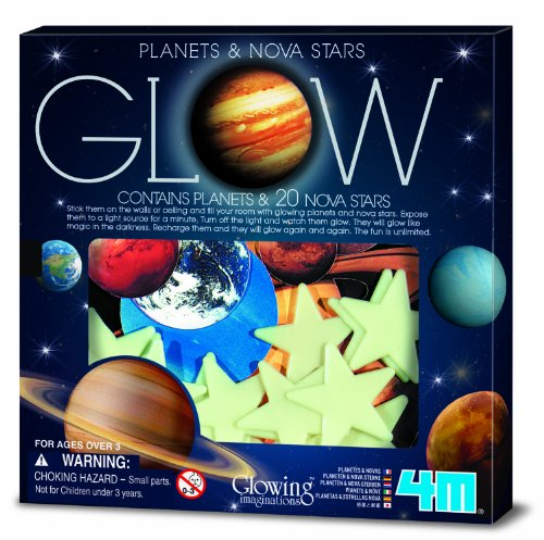 Glow In The Dark Solar System Stickers - 6