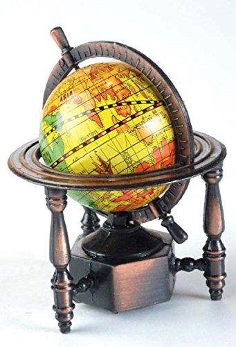 World Globe Die Cast Metal Collectible Pencil Sharpener