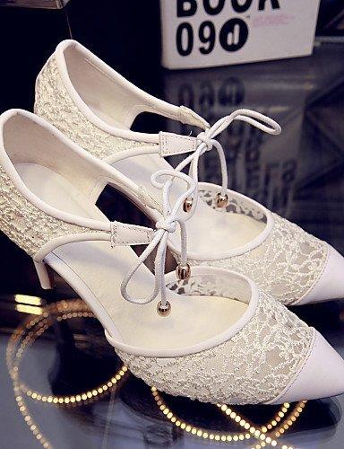 ShangYi Schuh Damen - Hochzeitsschuhe - Absätze / Spitzschuh - High Heels - Hochzeit / Kleid - Schwarz / Weiß / Beige / Burgund , 3in-3 3/4in-beige