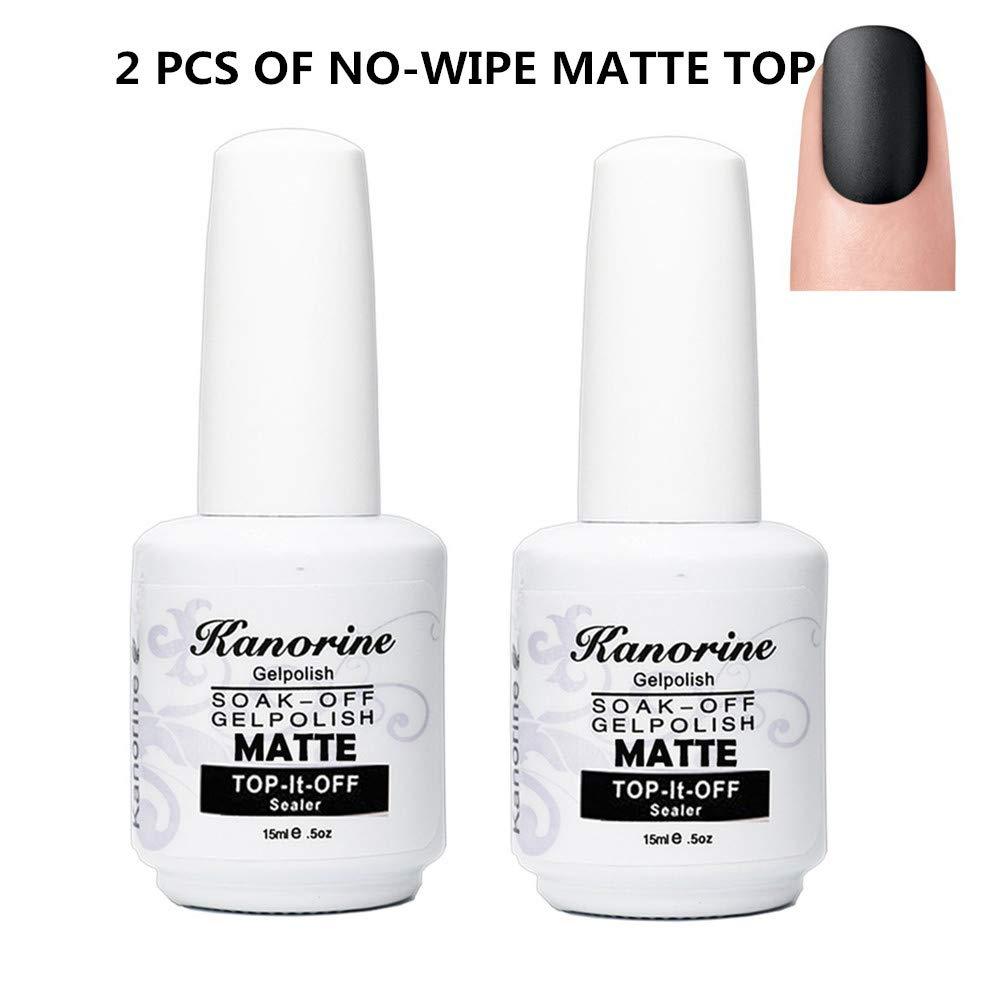 Amazon.com: Kanorine Gel Nail Polish No Wipe Matte Finish Top Coat ...
