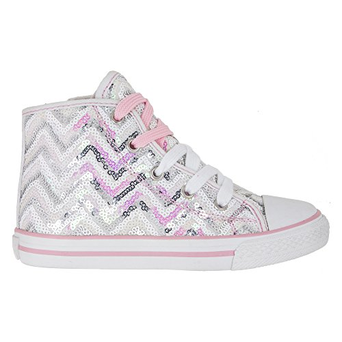 PRIMIGI 73161 sneakers scarpe bambina paillettes bianco