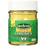 Herbox Granular Sodium Free Chicken Bouillon, 3.3-Ounce (Pack of 12)