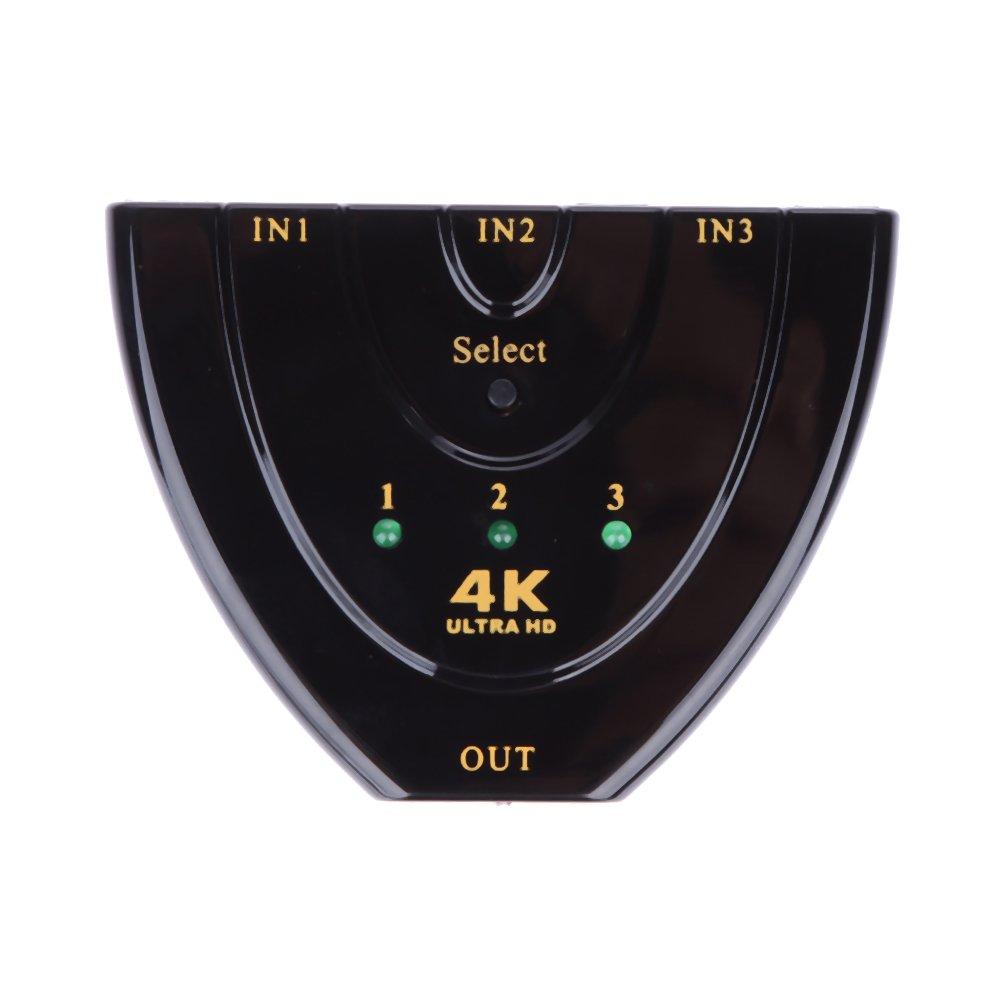 colore Splitter HDMI Full 4K UHD a 3 porte nero