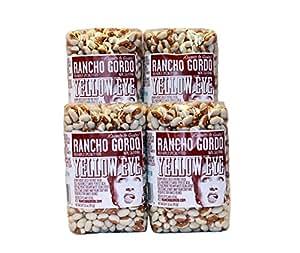 Rancho Gordo Yellow Eye Heirloom Beans, Four Pack