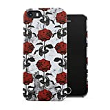 Crimson Dark Red Roses Blossom Pattern Plastic Phone Snap On Back Case Cover Shell For iPhone 5 & iPhone 5s & iPhone SE