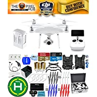 DJI Phantom 4 Advanced+ Drone MEGA Ready To Fly EXTREME ACCESSORY BUNDLE with Aluminum Case, Vest Strap, Extra Props, Landing Pad Plus Much More (1 Battery Total)