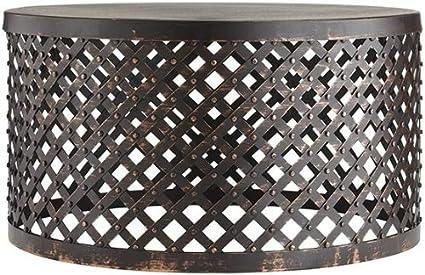 Amazoncom Shiva Lattice Coffee Table Hx ROUND BRONZE - Round lattice coffee table