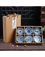 Tea Cup, Kung Fu Tea Set, Ceramic Cup, Japanese Hand-painted Tea Cup (Set10)