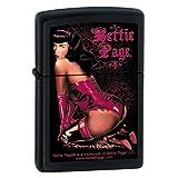 "Zippo ""Bettie Page"" Black Matte Finish Lighter, 7272"