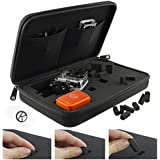 CamKix Carrying Case with Fully Customizable Interior for Gopro Hero 5 Black, Session, Hero 4, Session, Black, Silver, Hero+ LCD, 3+, 3, 2, 1 - Tailor the Case to Your Needs - Travel or Home Storage