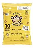 Messy Monkeys Cheese Flavored Whole Grain Bites - 10 Individual 0.5oz Single Serving Bags