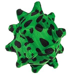 Zanies Plush Squawking Nubby Ball Dog Toys, Green