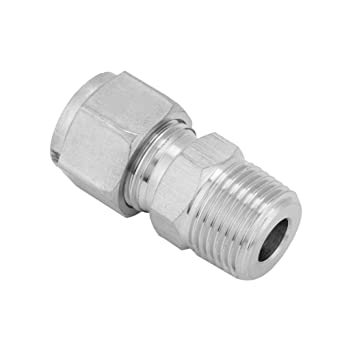 Akozon SS304 - Conector de tubería de acero inoxidable 3/8 ...