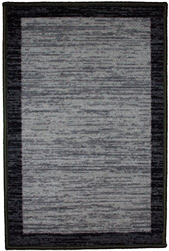 (Kashi Home RS045996 Sonoma Collection Stylish Geometric Inspired Decorative Accent Egyptian Area Rug, 5' x 7', Black )