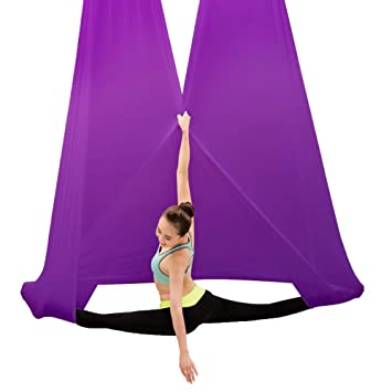 Amazon.com: Flying Hammock Aerial Yoga Hammock Yoga Swing ...