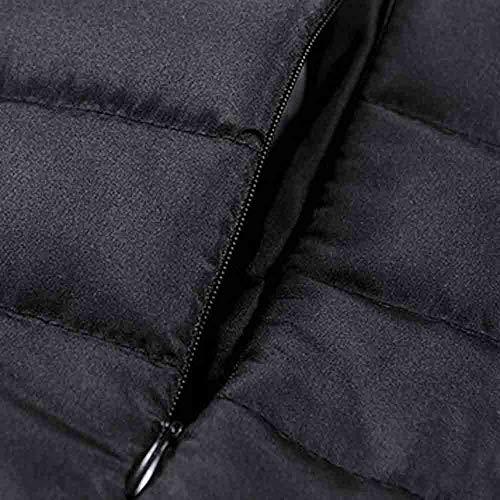 Tefamore Zipper Coton Stand Y Hiver Hommes Chaud noir Veste Manteau Épais rqat5rZ