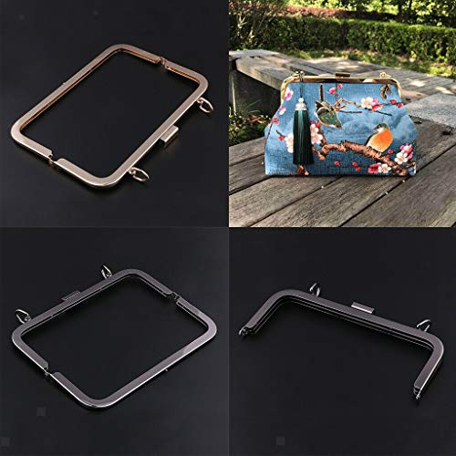 (21cm Metal Kiss Clasp Lock Purse Fram for DIY Handbag Purse Coin Bag)