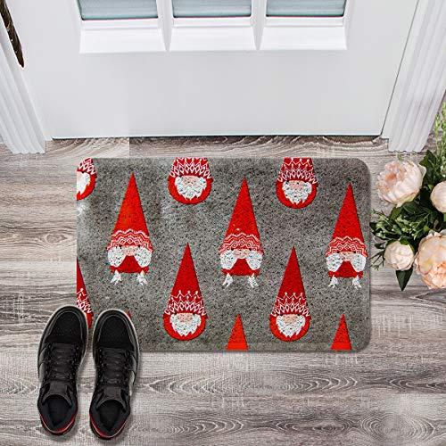 Prime Leader Soft Outdoor Indoor Doormats Absorbs Mud Carpet- Mottled Background Santa Claus 18