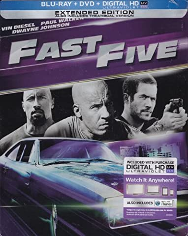 Fast Five (Steelbook) by Universal Studios Home Entertainment (Universal Studios Steelbook)