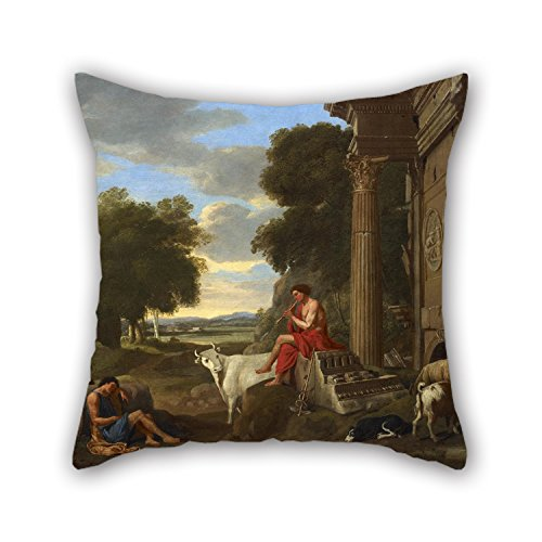 20 X 20 Inches / 50 By 50 Cm Oil Painting Jean Lemaire - Mercury And Argus Cushion Covers,each Side Is Fit For Sofa,play Room,coffee House,lounge,seat,chair